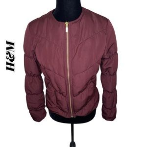 H&M Ruched Bomber US 4
